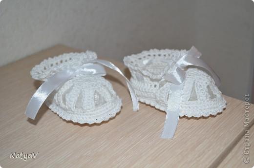 Пинетки-сандалики крючком... фото 2
