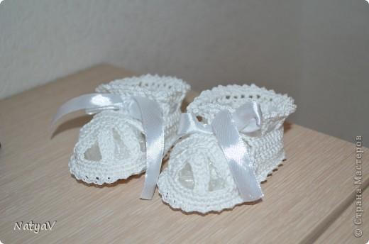 Пинетки-сандалики крючком... фото 3