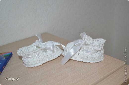 Пинетки-сандалики крючком... фото 4