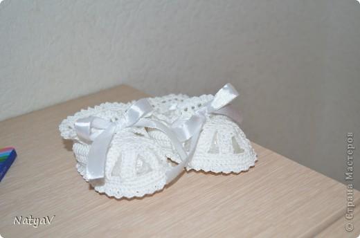 Пинетки-сандалики крючком... фото 5