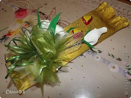 Здравствуйте дорогие жители СМ! Продолжаю свои эксперименты с конфетами.Надо было соседку отблагодарить за доброе дело и вот что получилось. фото 3