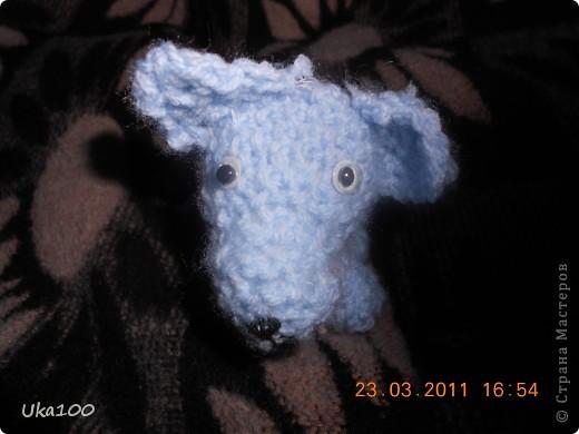 Моя первая вязаная игрушка.Этого щеночка зовут Тяфа. фото 2