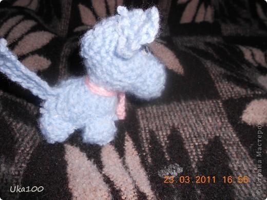 Моя первая вязаная игрушка.Этого щеночка зовут Тяфа. фото 3