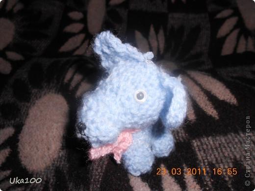 Моя первая вязаная игрушка.Этого щеночка зовут Тяфа. фото 1