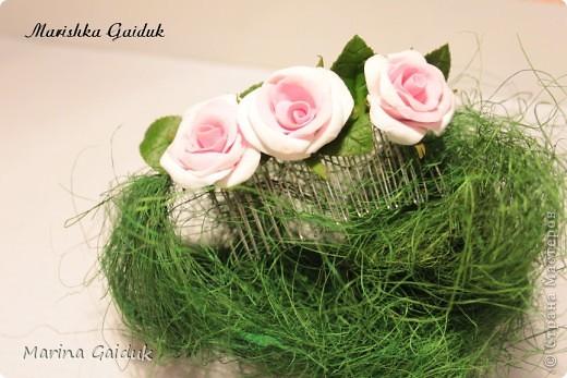 Цветок и бутоны Харти, листики и чашелистики из Модерн Клей фото 3