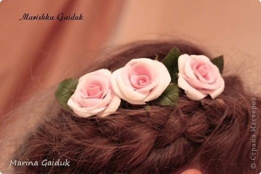 Цветок и бутоны Харти, листики и чашелистики из Модерн Клей фото 4