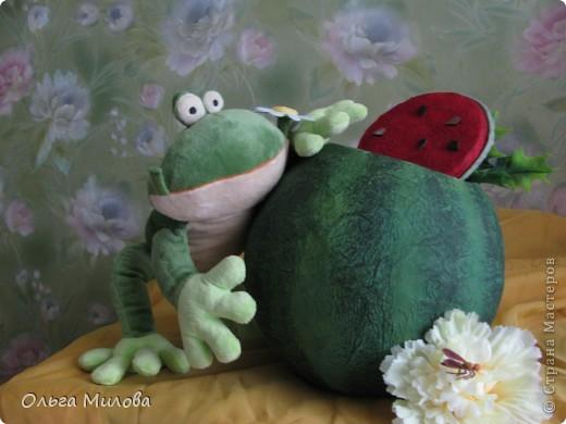 Вот такой арбуз получился для конкурса  http://stranamasterov.ru/node/372745?k=all&u=81727 фото 15