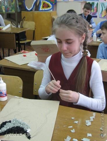 В этом учебном году панно в технике торцевания выполнял каждый ученик индивидуально  (раньше это были групповые работы) фото 11