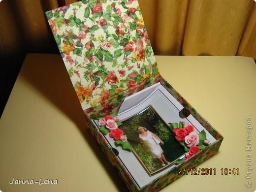 Фоторамка из холодного фарфора (подарок коллеге). фото 3