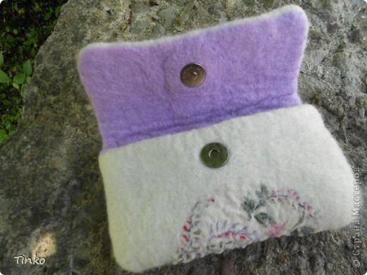 Очередной чехол для телефона. Шерсть и шелк с цветочным орнаментом (бывший сарафан)))) фото 2