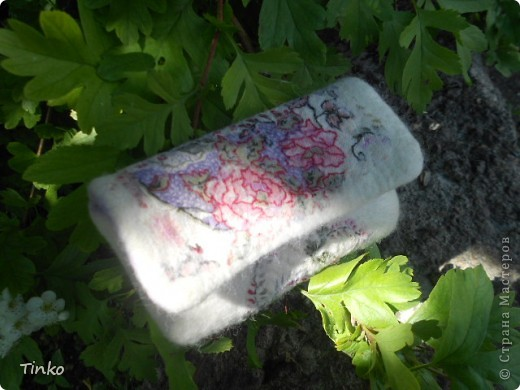 Очередной чехол для телефона. Шерсть и шелк с цветочным орнаментом (бывший сарафан)))) фото 1