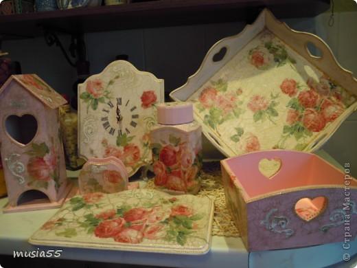 Сделала чайный домик,сухарницу,салфетницу, баночку кофе в дополнение к наборчику шебби-шик фото 1