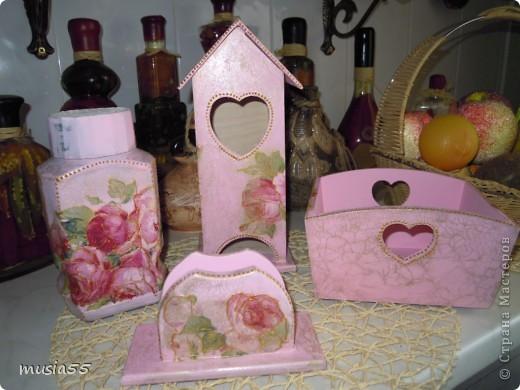 Сделала чайный домик,сухарницу,салфетницу, баночку кофе в дополнение к наборчику шебби-шик фото 3