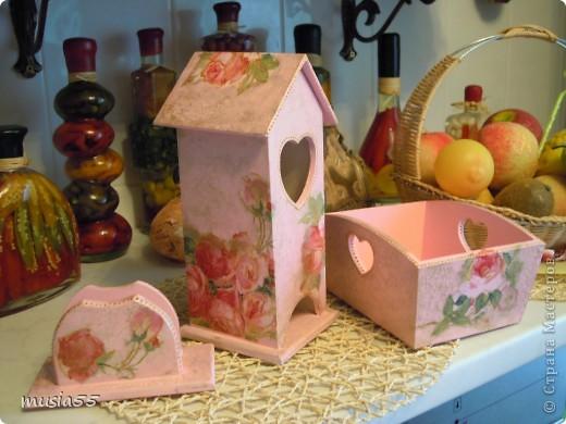 Сделала чайный домик,сухарницу,салфетницу, баночку кофе в дополнение к наборчику шебби-шик фото 2
