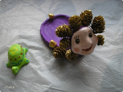 Уточки и черепашка,материао глина фото 4