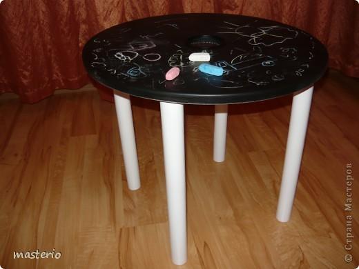 """Детская кровать """"Белый мишка"""" и комплект """"Медвежатки"""" (стол, стульчик, табурет и скамеечка). фото 7"""