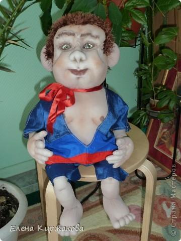 """Текстильная кукла """" Ежик Гоша"""""""