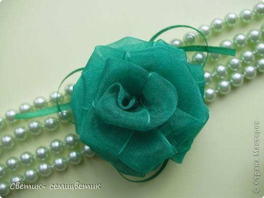 Роза из капроновых лент своими руками мастер класс