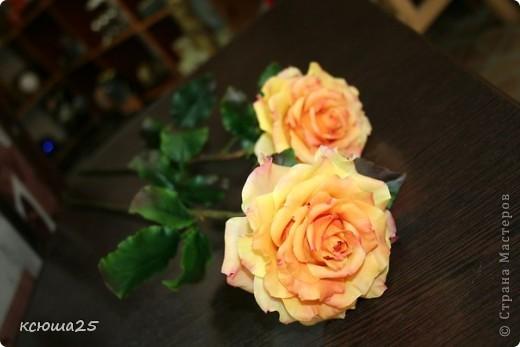 Розы в полный рост)) 70 см (лепка глина) фото 8
