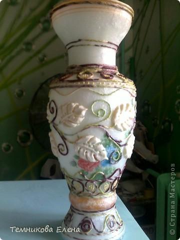 Добрый вечер! Выставляю свою любимую вазочку. Очень благодарна Татьяне Сорокиной за такую необыкновенную технику.  В своей вазе использовала идею Натальи Polihrony. Большое спасибо. фото 3