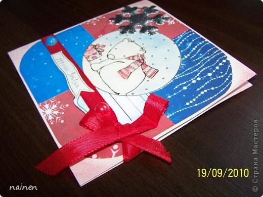 """Делала года 2 назад, пока так и лежит в шкатулочке для открыток, не было случая подарить :)) Ждет хозяина :)) Слишком крупная по размеру, не влезает в конверт :)) Поэтому и лежит до времен """"неконвертного"""" вручения! фото 3"""