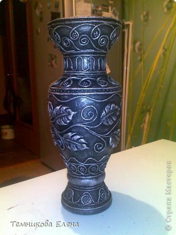 Добрый вечер! Выставляю свою любимую вазочку. Очень благодарна Татьяне Сорокиной за такую необыкновенную технику.  В своей вазе использовала идею Натальи Polihrony. Большое спасибо. фото 1