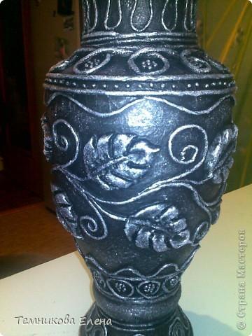 Добрый вечер! Выставляю свою любимую вазочку. Очень благодарна Татьяне Сорокиной за такую необыкновенную технику.  В своей вазе использовала идею Натальи Polihrony. Большое спасибо. фото 4