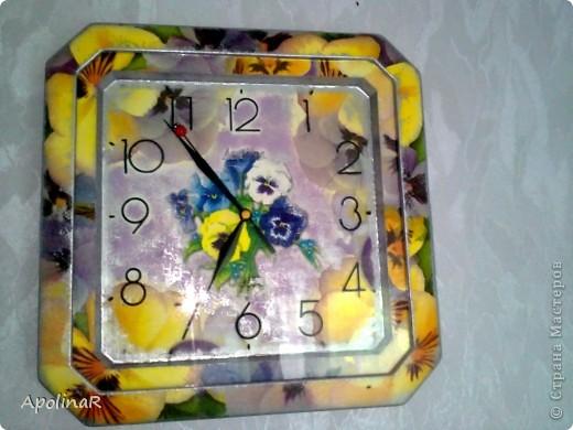 Эти часики теперь висят у меня на кухне и служат дополнением к подставке для ножей  http://stranamasterov.ru/node/339877 фото 2