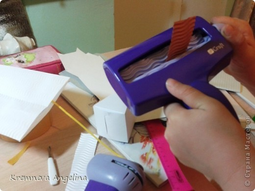 Тортик делали вместе с мамой на день рождения :) Идея http://stranamasterov.ru/node/363091?c=new фото 4