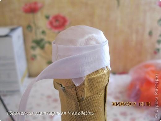 Доброго времени суток, дорогие мастерицы!!! Вот и мой обещанный МК по свадебным бутылочкам... фото 4