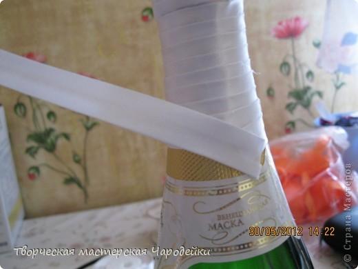 Доброго времени суток, дорогие мастерицы!!! Вот и мой обещанный МК по свадебным бутылочкам... фото 5