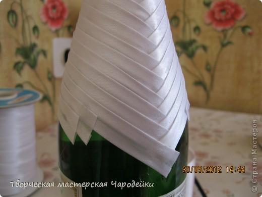 Доброго времени суток, дорогие мастерицы!!! Вот и мой обещанный МК по свадебным бутылочкам... фото 7