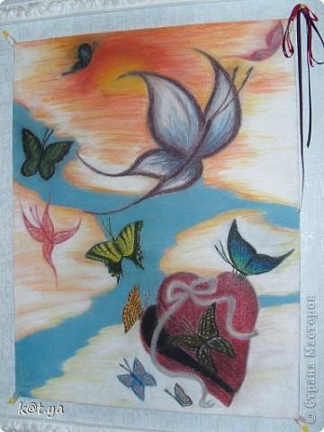 Я не проффесиональный художник и никаких худ. школ неоканчивала, но надеюсь Вам понравятся мои работы. Выполнено сухой пастелью... Теплым весенним днем... фото 1