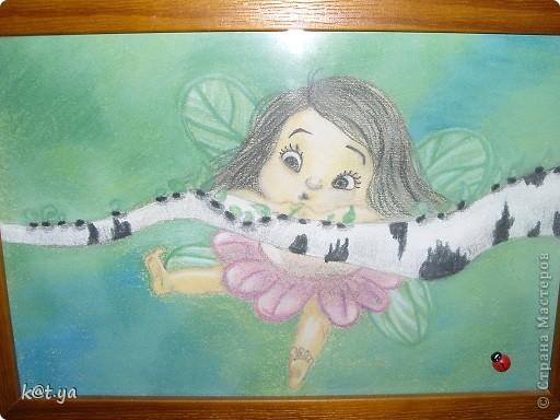 Я не проффесиональный художник и никаких худ. школ неоканчивала, но надеюсь Вам понравятся мои работы. Выполнено сухой пастелью... Теплым весенним днем... фото 2