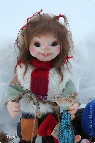 Чулочные куклы-тролли
