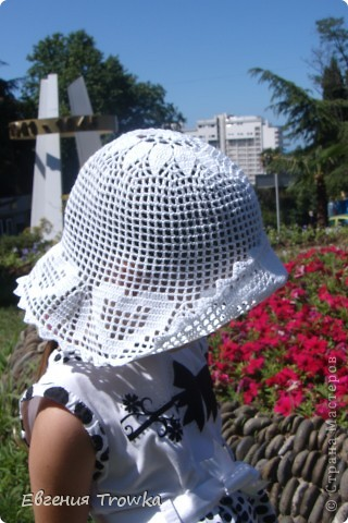 """Связала легкую, воздушную шляпку для дочки. Пряжа """"Успешная"""" мерсериз. хлопок 50гр/220м, крючок №1,5 фото 2"""