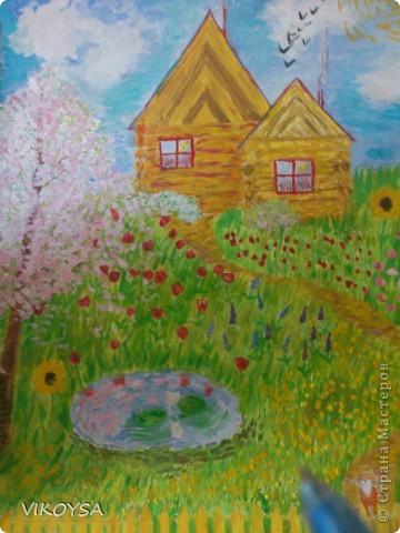 цветущий деревенский сад фото 1
