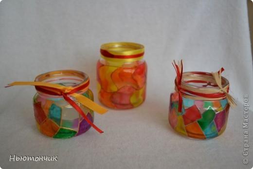 Дано: куча баночек из-под детского питания и витражные краски :) Ну и вот итог: фото 2