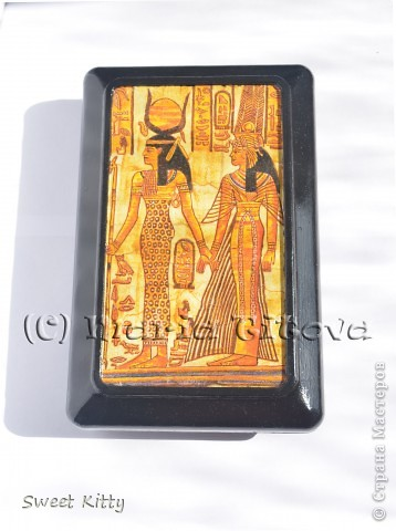 """Честно говоря, я всегда """"болела"""" всем египетским. Поэтому решила побаловать себя любимую шкатулочкой с египетскими изображениями.  фото 1"""
