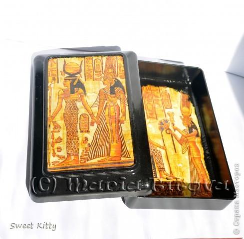 """Честно говоря, я всегда """"болела"""" всем египетским. Поэтому решила побаловать себя любимую шкатулочкой с египетскими изображениями.  фото 2"""