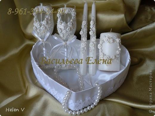"""Свадебный набор """"Сердечко"""" фото 3"""