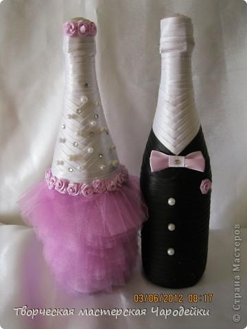 Доброго времени суток, дорогие мастерицы!!! Вот и мой обещанный МК по свадебным бутылочкам... фото 17