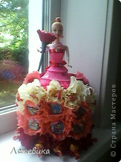 Все доброго времени суток! Вот такая сладкая куколка получилась у меня, подарок на день рождения маленькой принцессе. За МК спасибо Свет9 ( http://stranamasterov.ru/node/229886 ). фото 2