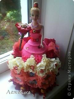 Все доброго времени суток! Вот такая сладкая куколка получилась у меня, подарок на день рождения маленькой принцессе. За МК спасибо Свет9 ( http://stranamasterov.ru/node/229886 ). фото 1