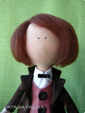 Сшила по своей выкройке( по которой шила куколку в пальтишке) жениха и невесту. фото 9