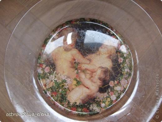 "Тарелка ""В раю"", декорированная листами потали. фото 6"