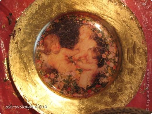 "Тарелка ""В раю"", декорированная листами потали. фото 9"