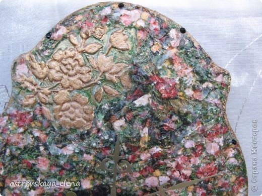 "Тарелка ""В раю"", декорированная листами потали. фото 21"