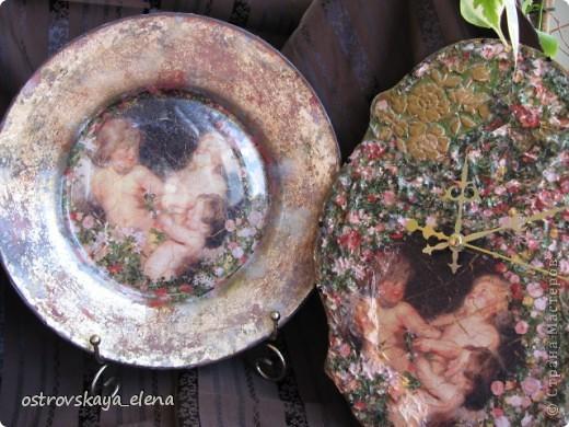 "Тарелка ""В раю"", декорированная листами потали. фото 1"
