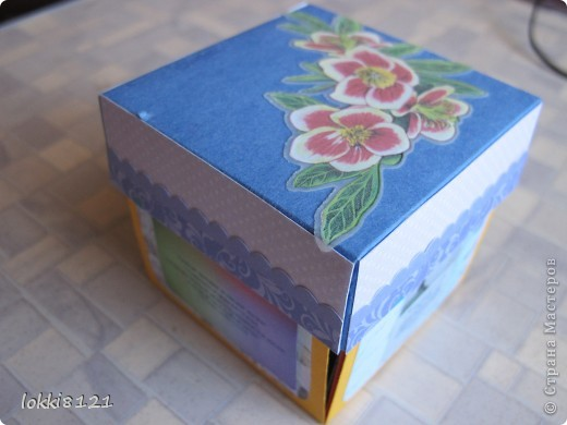 Ура! сделала первую коробочку-сюрприз, уже давно мечтала! (идею именно такой коробочки подсмотрела на просторах интернета) фото 1
